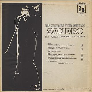 Sandro / Una Muchacha Y Una Guitarra back