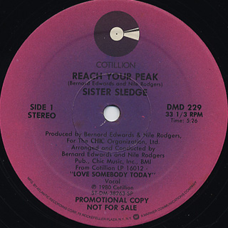 Sister Sledge / Reach Your Peak back