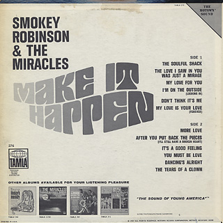 Smokey Robinson And The Miracles / Make It Happen back