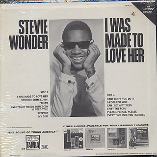 Stevie Wonder / I Was Made To Love Her back