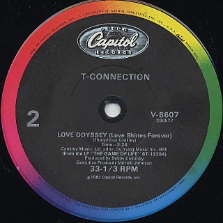T-Connection / You Can Feel The Groove c/w Love Odyssey back