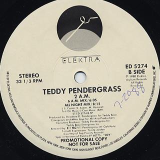 Teddy Pendergrass / 2 A.M. back