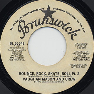 Vaughan Mason And Crew / Bounce, Rock, Skate, Roll (45) back