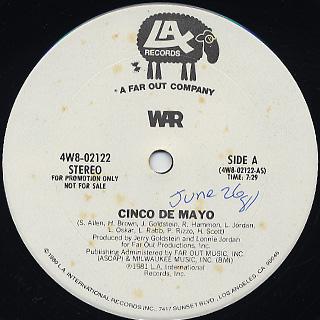 War / Cinco De Mayo