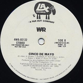 War / Cinco De Mayo back