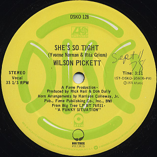Wilson Pickett / Funky Situation c/w She's So Tight