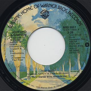 Ashford And Simpson / It Seems To Hang On c/w Too Bad back