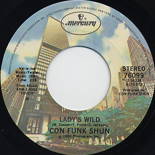 Con Funk Shun / Lady's Wild c/w Pride And Glory front