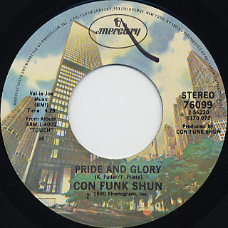 Con Funk Shun / Lady's Wild c/w Pride And Glory back