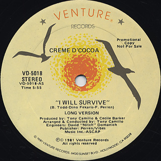 Creme D'Cocoa / I Will Survive front