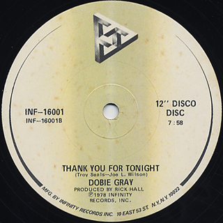 Dobie Gray / You Can Do It c/w Thank You For Tonight back