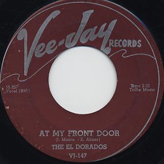 El Dorados / At My Front Door c/w What's Buggin' You Baby back