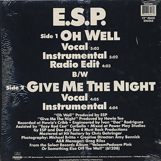 E.S.P. / Oh Well back