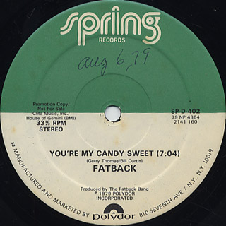 Fatback / You're My Candy Sweet