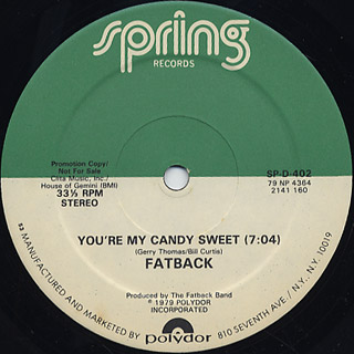 Fatback / You're My Candy Sweet back