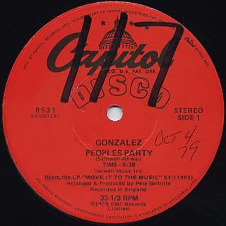 Gonzalez / Peoples Party c/w Ain't No Way To Treat A Lady