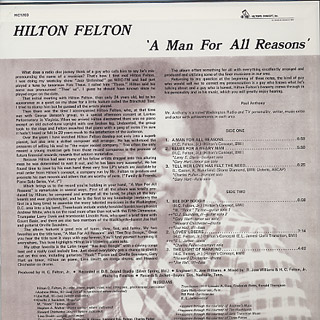 Hilton Felton / A Man For All Reasons back