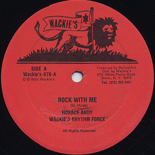 Horace Andy Wackies Rhythm Force / Rock With Me c/w Stop The Fuss front