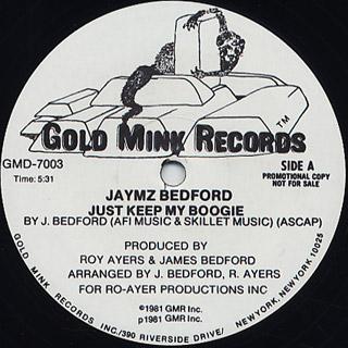Jaymz Bedford / Just Keep My Boogie c/w Happy Music