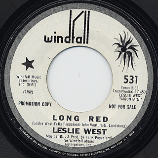Leslie West / Long Red c/w Blood Of The Sun