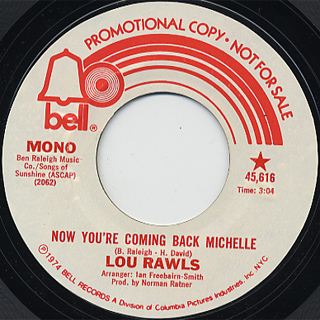 Lou Rawls / Now You're Coming Back Michelle c/w (Mono) back