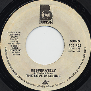 Love Machine / Desperately c/w (Mono) back