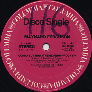 Maynard Ferguson / Gonna Fly Now(Theme From Rocky) c/w The Fly