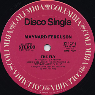 Maynard Ferguson / Gonna Fly Now(Theme From Rocky) c/w The Fly back