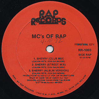 MC's Of Rap / Sherry c/w Big Butt Hunt