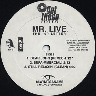Mr. Live / The 10th Letter back