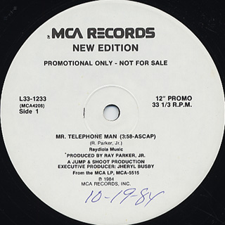 New Edition / Mr.Telephone Man c/w Cool It Now