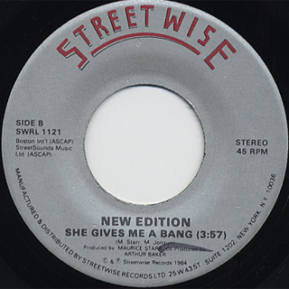 New Edition / She Give Me A Bang back
