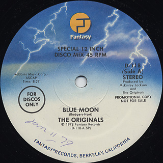 Originals / Blue Moon c/w While The Cat's Away