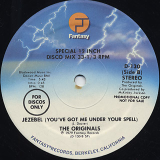 Originals / J-E-A-L-O-U-S c/w Jezebel(You've Got Me Under Your Spell) back