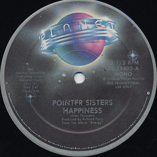 Pointer Sisters / Happiness back