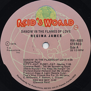 Regina James / Dancin' in The Flames of Love label