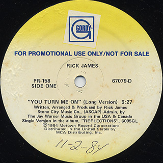Rick James / You Turn Me On c/w (Instrumental)
