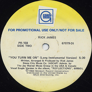 Rick James / You Turn Me On c/w (Instrumental) back