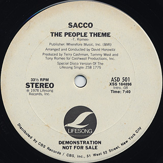 Sacco / The People Theme front