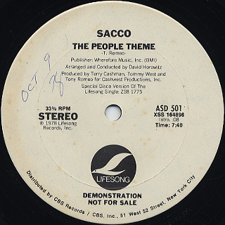 Sacco / The People Theme back