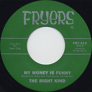 Sonny Rhodes / You Better Stop c/w The Right Kind / My Money Is Funny back