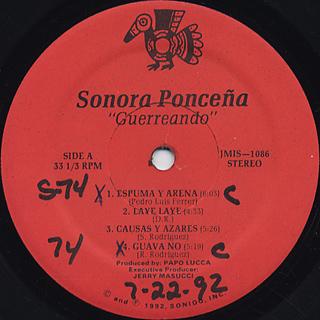 Sonora Poncena / Guerreando