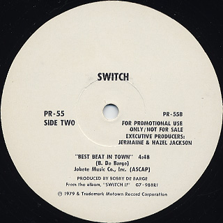 Switch / I Call Your Name c/w Best Beat In Town back