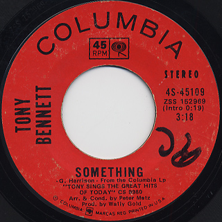 Tony Bennett / Something c/w Eleanor Rigby