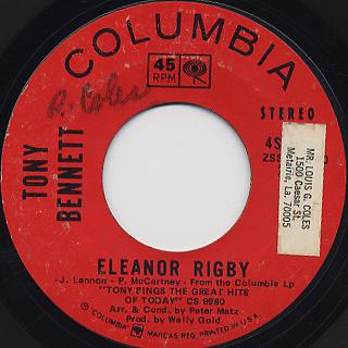 Tony Bennett / Something c/w Eleanor Rigby back