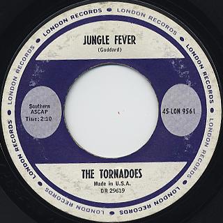 Tornadoes / Telstarr c/w Jungle Feve back