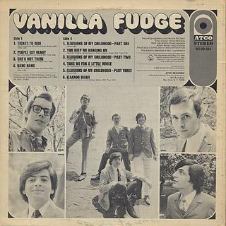 Vanilla Fudge / S.T. back