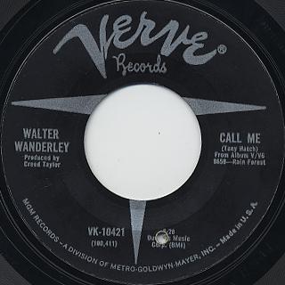 Walter Wanderley / Summer Samba c/w Call Me back