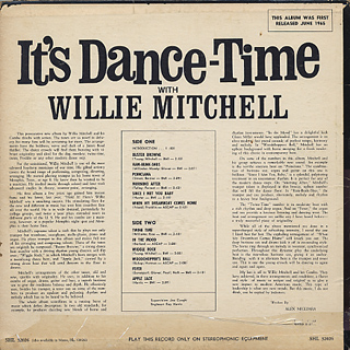 Willie Mitchell / It's Dance Time back