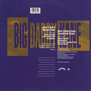 Big Daddy Kane / How U Get A Record Deal back